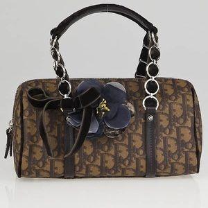 Vintage authentic Christian Dior Brooch Handbag